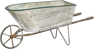 Decorative Galvanized Metal Wheelbarrow Planter, 16