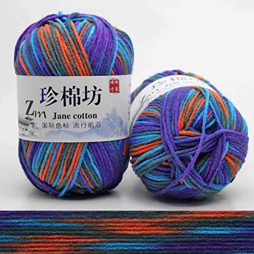 yanqiu grote multi-gekleurde dikke hand gebreide gekaarde draden garen voor kinderen baby truien zachte breien garen