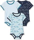 Amazon Exclusive: Care Baby - Jungen Kurzarm-Body im 3er und 6er Pack, Blau (Blue 769), 3 Jahre/98 cm, 3er-Pack