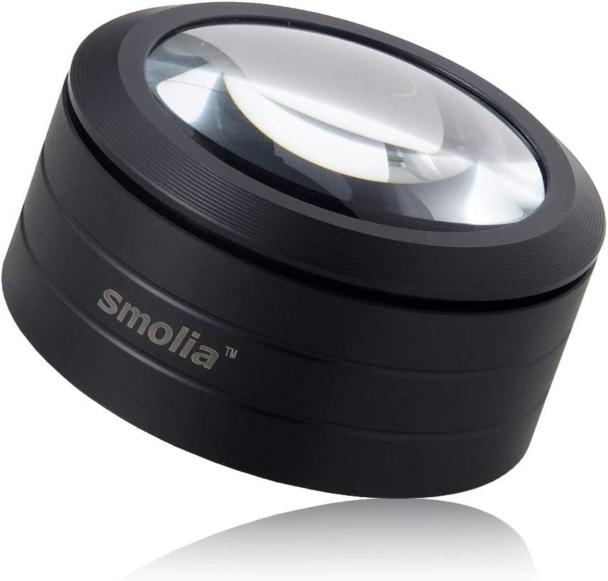 Smolia-L 3X Magnifying Glass with LED Dome Ma Denver Regular discount Mall Focus Lights Auto