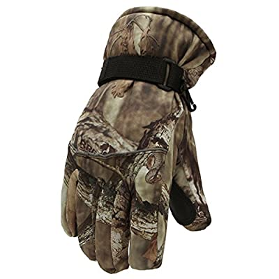 Mens Tactical Camo Winter Work Gloves for Hiking Backpacking Hunting