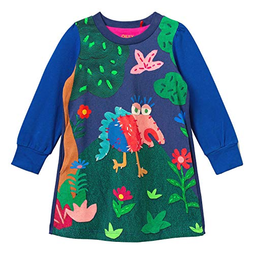 Oilily Thappy YF20GDR082 - Vestido de punto azul 18 meses