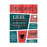 trendaffe - Liebes Kühlschrankmagnete 8er Set zum Thema Liebe Beziehung Glück Mann Frau Herz