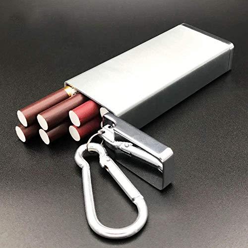 Caja de cigarrillos Caja de cigarrillos de metal al aire libre a prueba de humedad y resistente a la presión de los cigarrillos portátiles de los cigarrillos de los hombres de los hombres del portátil