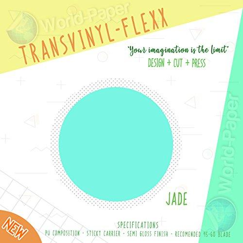 "Heat Transfer Vinyl 10"" x 1 Yard Roll T-Shirt Iron ON All Cutting Machines (Jade)"