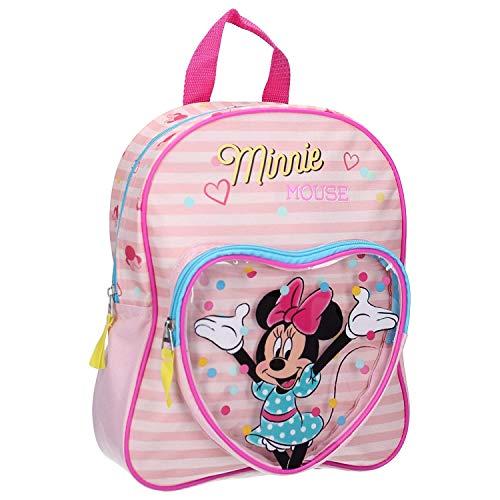 Disney Minnie Mouse Kinderrucksack für Mädchen - Streifen - Rosa