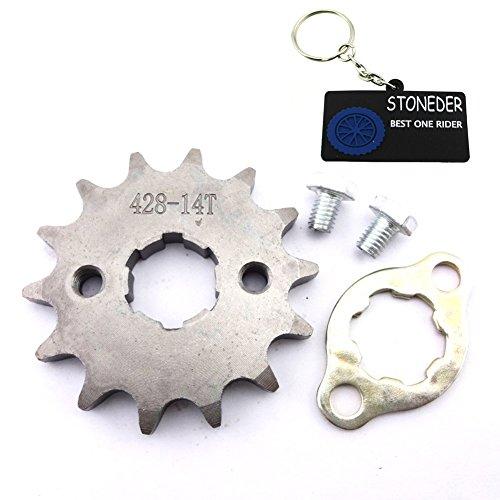 STONEDER Pignon de chaîne avant 428 14 dents 20 mm pour moteur 50 cc, 70 cc, 90 cc, 110 cc, 125 cc, 140 cc, 150 cc, 160 cc