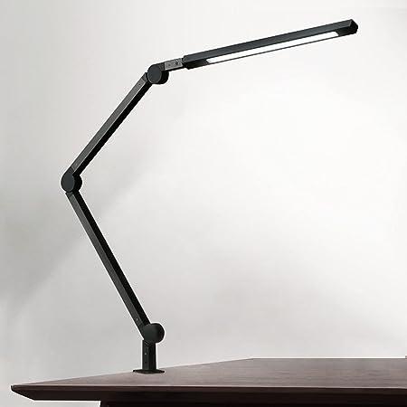 Lampe de Bureau EYOCEAN 10W Lampe d'Architecte, avec Pince, LED Protection des Yeux, Atténuation et Température de Couleur Réglable, Contrôle Tactile, Fonction de Mémoire et de Chronométrage