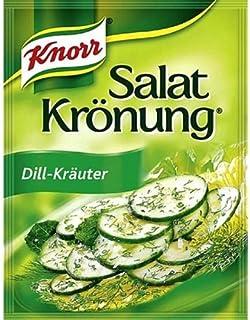Knorr Dill & Herbs Salad Dressing (Salat Kroenung) - Pack of 4 X 5 Pcs Ea.