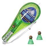 Jeu de Badminton à 2 Joueurs pour Enfants, Raquettes Doubles et 2 balles Jeu de Sport de Plein air intérieur léger pour débutant