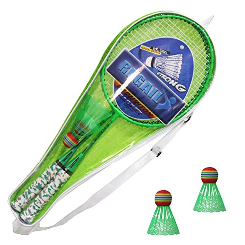 Nieuwe Badmintonrackets Leuke Badmintonset Fluorescent H6508 Badmintonracket Twee Schoten om twee Ballen te Sturen YMQ Racketset Buitensporten Vrije Tijdsspeelgoed Kinderen Spelen Spel Speelgoed