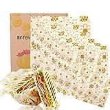 BALFER Bienenwachs-Wraps 8er-Set, Wachspapier Bienenwachstücher aus natürlichem Bienenwachs und Öko-Tex Baumwolle, für natürliche Lebensmittelaufbewahrung, Keine Abfälle.