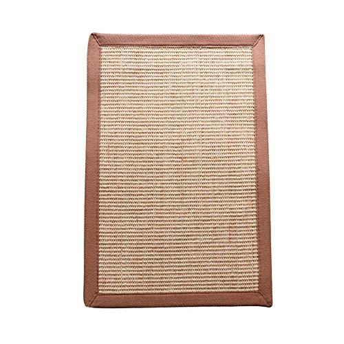 LITINGT Cat Scratching Mat Pad mit Sisal , Sofa Anti-Scratch Pad mit Klettverschluss , Schleifpfote Möbelschutz Couch Shield , 60 * 40 cm (Farbe: Holz)