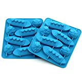 WARMBUY Titanic Iceberg Shaped Silicone Chocolate Candy Making Mold Tray and Ice Cube Trays, Set of 2