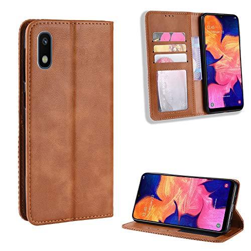 Jielangxin Keji Case for Samsung Galaxy A10E Case Cover,Case for Samsung SM-A102U1 Galaxy A10e 2019 / SM-A102U SM-A102V SM-A102P Case PU Leather flip Cover Brown