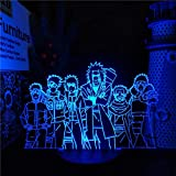 Naruto 3D Nachtlicht LED Lampe Senju Tobirama Sarutobi Jiraiya Namikaze Minato Tsunade Kakashi Puden Manga Dekor Lampe Lampen-No_Remote