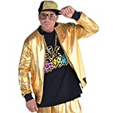 AMSCAN Gold Hip Hop Track Jacket Halloween Costume Accessories for Men, One Size