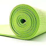 Goodbuy - Esterilla de Yoga de PVC, 6mm de Grosor, Antideslizante y Duradera, Colchoneta para Gimnasia Pilates Fitness, Tamaño 173 x 610 cm, Verde