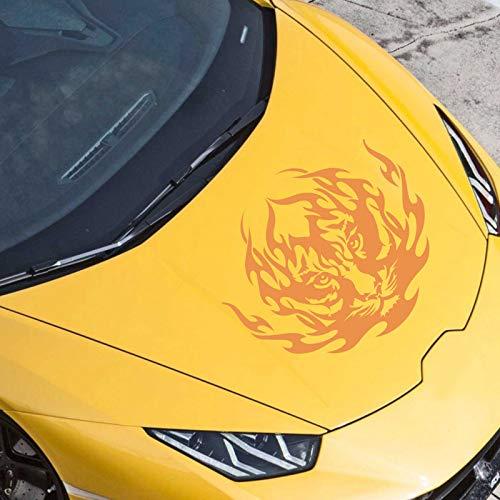 JINTORA Sticker - Autocollant De Voiture Tribu De Tigre 50cm x 43cm Orange - réglage Lunette arrière Voiture - Style de Voiture