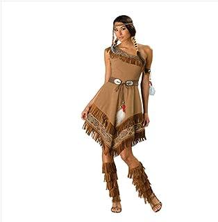 M 4 tama/ños Diferentes thematys Pocahontas Traje Indio para Mujer Cosplay /& Carnival