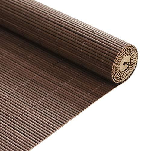 Persiana enrollable Cortina de Bambu Bambú para Salón de Té - Protector Solar 65% Sombra Plisada con Ganchos, para la Cocina del Balcón De la Pérgola, Marrón (Size : 80×200cm)