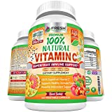 Natural Vitamin C - 100% from Rose Hips, Acerola Cherry and Camu Camu Superfruit 500mg - High Absorption - Immune Support, Skin, Joint and Collagen Booster with Citrus Biflavanoids - 120 Capsules