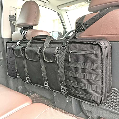 MOGAKU Tactical Seat Back Rifle Case Lockable Molle Rifle...