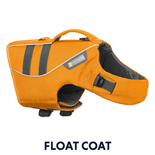 RUFFWEAR - Float Coat Dog Life Jacket for Swimming, Adjustable and Reflective, Wave Orange, Medium