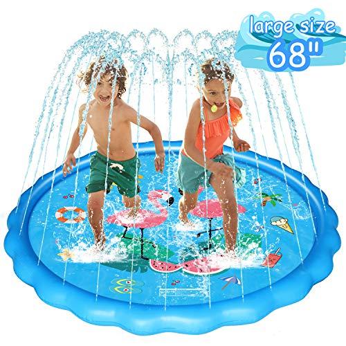 WOWGO Sprinkler & Splash Play Mat for Kids, Upgraded 68