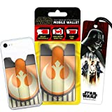 Disney Star Wars Wallet for Phone Set- Deluxe Stick on Wallet for Cell Phone with Card Holder, Phone Cord Holder, Stand with Star Wars Bookmark (Star Wars Mobile Wallet Accessories)