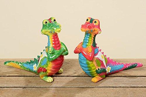 Lot de 2 décorations de jardin en forme de crocodile Namik - 16 cm - 556880