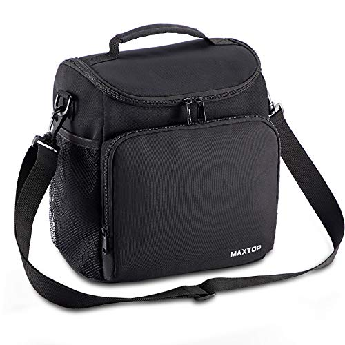 MAXTOP Lunch Box for Men Women Reusable Insulated Lunch Cooler Bags for Women with Adjustable Strap Large Thermal Lunch Tote Bag for Office Work Hiking Outdoor Picnic Beach
