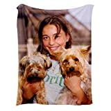 Custom Throw Blanket with Picture, Personalized Photo Throws Blanket for Kids (30X40)