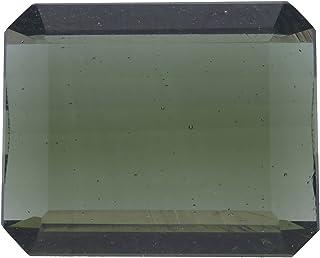 esmeralda de 10 x 13 x 4,8 mm de moldavita.