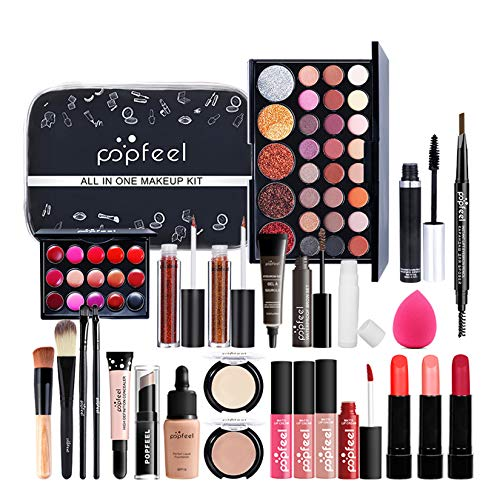 Professionelles Makeup Set, MKNZOME 30St Kosmetik Starter Kit mit Schminktasche Tragbare Reise...