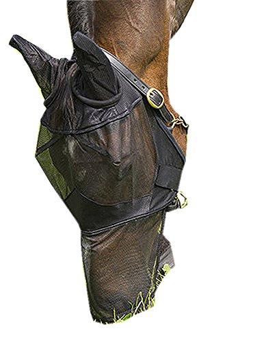 Amesbichler Equi-Theme Fliegenmaske mit Ohren und Maulteil schwarz