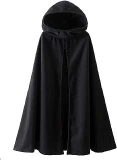 neveraway Women's Winter Open Front Tops Outwear Jacket with Hood Woolen Poncho