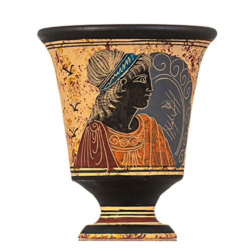 BeautifulGreekStatues Pythagoras Tasse der Gerechtigkeit Pythagoräischer gerechter Becher Altgriechische Göttin Aphrodite Handgemalte Keramik