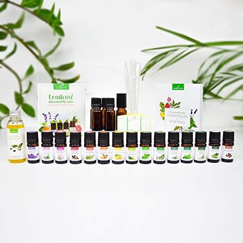 L'incontournable box - Coffret Cadeau Aromathérapie - 15 huiles essentielles BIO indispensables