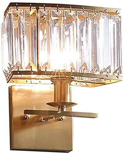 Vintage Latón De Pared Luz De Luz Dormitorio Cristal Shade E14 Lámpara De Escoce De Pared Interior Para Sala De Estar Restaurante Corredor Iluminación