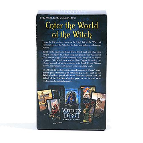 SYJH Witches kartenspiel Tischspiel Tarot Decak, Zukunftsprognose Karten, 78 Karten Hexengeschenk Indikator Schicksal