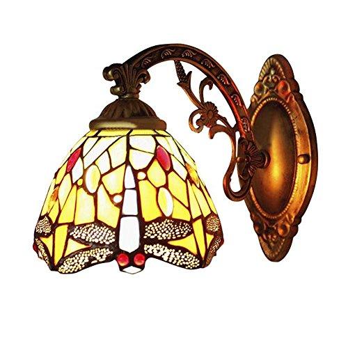 BAYCHEER Tiffany libélula lámpara aplique - Pantalla de Cristal Lámpara de pared
