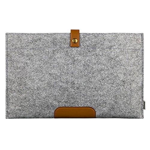 ZhuiKun 15.4 Zoll Macbook Pro Retina Filz Sleeve Hülle Ultrabook Laptop Tasche Speziell für Laptop/Notebook/Ultrabook/Netbook Grau