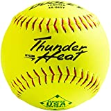 Dudley 12' USASB Thunder Hycon Leather Slowpitch Softball - 12 Pack