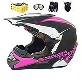 Wbeiba Casque Moto Cross Homme ECE Homologué Casque Intégral DH Enduro Femme Quad Motocross Adulte (Black powder,M:57-58cm)