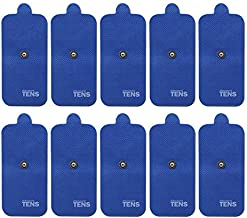 HiDow Compatible Replacement TENS Electrodes, Premium Quality Electrode Pads for Hi-Dow TENS Units, 5 Pair of Snap TENS Unit Electrodes (10 TENS Unit Pads), 2 inch X 4 inch, Discount TENS Brand