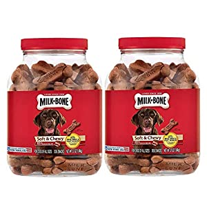 Milk-Bone 2 Pack Soft & Chewy Beef & Filet Mignon Recipe Dog Treats, 25-Ounce