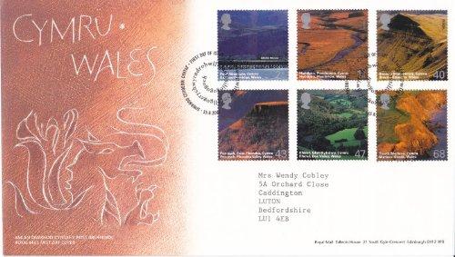 2004 Cymru Wales eerste dag Cover. Rode Draak.