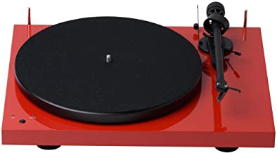 Pro-Ject Debut III Recordmaster Turntable with USB and Phono Preamp- Red