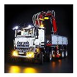 LAIQIAN Juego de iluminación led para Technic Mercedes-Benz Arocs Modelo 3245, Compatible con Bloques de iluminación Lego 42043 - sin Juego Lego